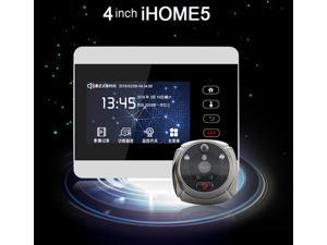 Rollup iHome5 WiFi Peephole Door Viewer & Video IP Doorbell 4 Inch Screen IR PIR Door HD Camera Motion Detect Door Bell