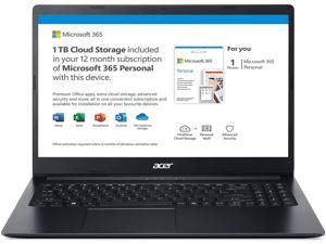 """2020 Acer Aspire 1 A115-31-C2Y3, 15.6"""" Full HD Display, Intel Celeron N4020, 4GB DDR4, 64GB eMMC, 802.11ac WiFi 5, Up to 10-Hours of Battery Life, Microsoft 365 Personal, Windows 10 in S Mode"""