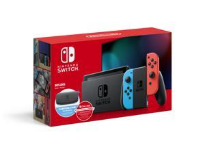 2020 Nintendo Switch™ w/ Neon Blue & Neon Red Joy-Con + 12 Month Individual Membership Nintendo Switch Online + Carrying Case