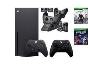 Xbox bundle: Microsoft Xbox Series X 1TB SSD Black Console and Wireless Controller + Watch Dogs: Legion and Assassin's Creed Valhalla+Ozeal Charging Station