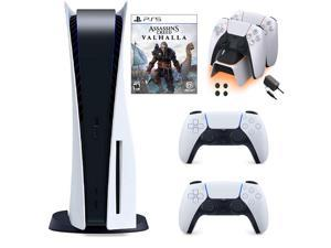 PS5 Bundle: Playstation 5 Disc Console+DualSense Wireless Controller + Assassin's Creed Valhalla and Ozeal charging station for PS5
