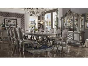 Joyce US Luxury Furniture Versailles Side Chair Set 2 in Silver PU Antique Platinum 66822 Sofa Bedroom For Women Men In Stock same as picture