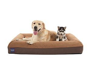 """Laifug Orthopedic Memory Foam Large Sofa Pet/Dog Bed (43""""x36""""x7"""", Slate Grey) with Durable Water Proof Liner and Removable Washable Cover"""