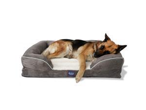 Laifug Solid Orthopedic Foam Dog Bed,Sofa-Style,Larger Size,Waterproof Liner,Washable Removable Luxury Plush Cover