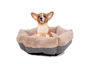 Laifug Dog Bed Cat Bed Faux Fur Plush Donut,Machine Washable,Non-Slip Bottom,Multiple Sizes