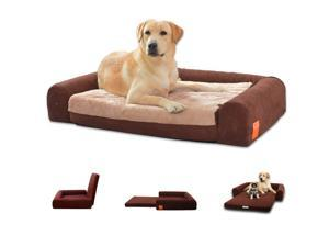 "Laifug Orthopedic Memory Foam Folding Pet Bed Chocolate (Large 40""x30""x8"")"