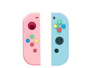 Soft Touch Grip Back Plate for Nintendo Switch Console, NS Joycon Handheld Controller Housing with Full Set Buttons, DIY Replacement Shell for Nintendo Switch