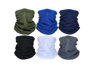 Unisex Sunscreen Headwear Seamless Bandana Neck Gaiter Tube Motorcycle Dustproof Scarf(2PCS)