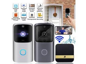 720P Smart Wireless Doorbell WiFi IR Night Vision Home Security Motion Detection Audio Door Bell