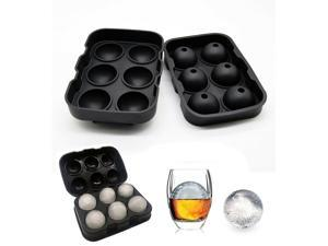 Cream Whisky Ice Hockey Mold Ice Ball Cube Tray Bar Accessories Silicone Mould(Blue/6 Large Shpere Models)