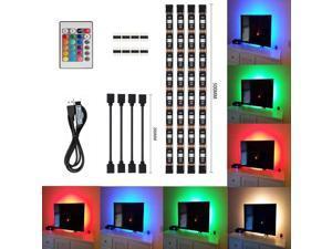 USB Powered LED TV Light Strip 5V RGB LED Mood Background Lighting, TV Backlight 16 Colors LED Strip Lights (Remote Control)
