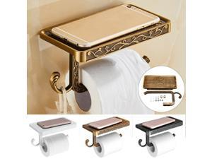 Toilet Tissue Roll Paper Holder Bath Phone Wall Mounted Shelf Bathroom Racks