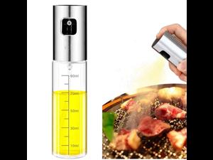 Oil Sprayer Dispenser,Dressing Spray with Brush Portable,Grilling Olive Oil Glass Bottle 100ml,for Kitchen,Bread Baking,BBQ