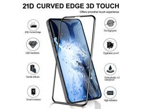 2PCS 10H Full Screen 21D Tempered Film For Apple For iPhone 12/12max/12pro/12 pro max Tempered Glass Screen Protector(For iphone 12, 5.4in)