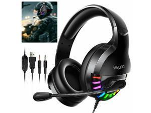 USB Noise Canceling headset with microphone Adjustable headband phone headset (black)