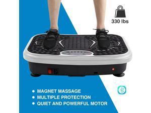 Vibration Power Plates, Vibration Plate Machine with Bluetooth Speaker, Vibration Fitness Trainer For Weight Loss & Body Toning, 330lb Max Load