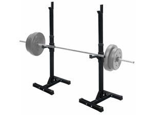 Adjustable Squat Power Rack, Weight Stand Rack Press Barbell Stand Holder for Home Gym Workout