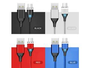 3A Magnetic Phone Quick Charger Cable TYPE C Micro USB For Samsung S8 Android (Black/2M)