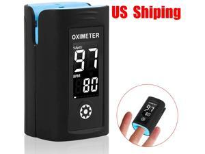Fingertip pulse oximeter, oxygen level and PR display LED display Home use Sleep monitoring Data recording travel Easy to carry