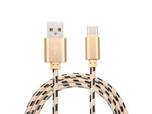 USB Type C Charger Cable Charging Data Cable Type-C Phone Cable Data Sync Nylon Braided for Samsung Huawei Xiaomi Golden