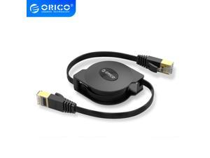 ORICO CAT6 Ethernet Cable Portable Retractable Ethernet LAN Internet Network Cable for Laptop Router Network Cables 1000Mbps 2M