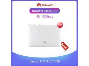 Huawei B310s-518 Unlocked 4G LTE CPE 150 Mbps Mobile Wi-Fi Router (4G LTE in USA Latin & Caribbean Bands) + Rj45 Up to 32 Users