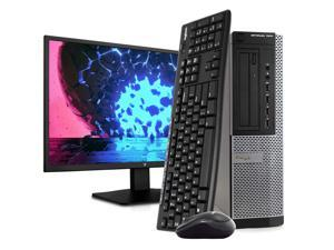 """Dell OptiPlex 7010 Desktop PC Computer, Intel i5-3470 3.2GHz, 16GB RAM, 2TB HDD, Windows 10 Pro, New 23.6"""" FHD LED Monitor, Wireless Keyboard & Mouse, New 16GB Flash Drive, DVD, Wi-Fi"""