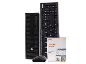 HP EliteDesk 800 G1 Desktop Computer PC, Intel i5-4590 3.3GHz, 8GB RAM, 256GB SSD, Windows 10 Pro, Microsoft Office 365 Personal, Wireless Keyboard & Mouse, New 16GB Flash Drive, DVD, WiFi