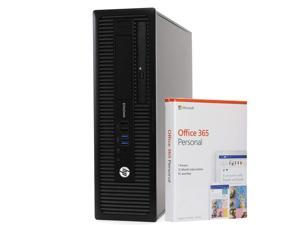 HP EliteDesk 800 G1 Small Form Desktop PC Computer, Intel i5-4590, 8GB RAM, 256GB Solid State Drive, Windows 10 Professional, Microsoft Office 365 Personal, New 16GB Flash Drive, DVD, WiFi