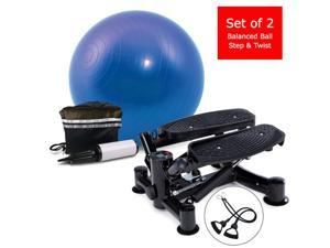 Daiwa Felicity Step & Twist Deluxe & Exercise Ball Combo