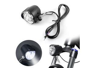 2 in 1 LED Bike Horn Light Electric Bicycle Front Headlight Safety Warning Lamp Bike Accessories