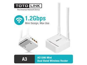 A3 AC1200 Wireless Dual Band WiFi Router Wireless Repeater WiFi Repeater Access Point All in One, PPPoE/DHCP/Static IP