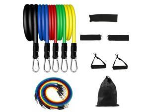 11Pcs Resistance Bands Home Exercise Fitness Loop Bands Workout Equipments for Men Women Home Training