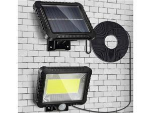 100 LED Solar Powered Sensor Light Security Flood Motion Garden Outdoor Lamp