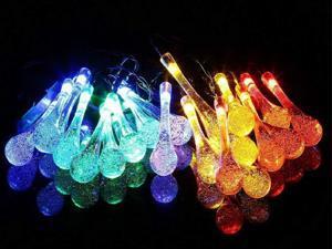 30 LED Solar Power Water Drop String Light Outdoor Garden Po Yard Landscape Party Decoration Lamp