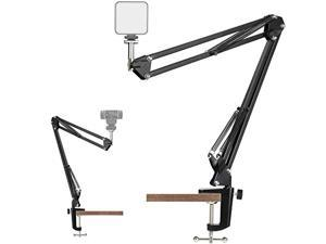 Webcam Stand, Video Conference Lighting Kit, Laptop Webcam Lighting with Stand, LED Camera Light for Photography, Zoom Meeting, Remote Working, Streaming and Self Broadcasting, Vlogging
