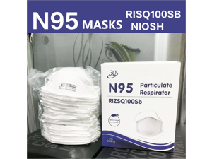 10Pcs Pm2.5 N95 Face Mask Anti-Virus Anti Pollution N95 Earloop Face Masks for Personal Protective Respirator Reusable