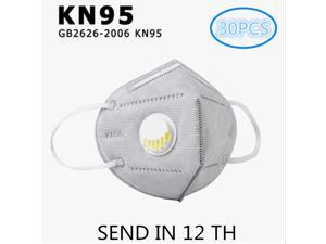 30PCS 6-Layer N95 KN95 Face Mask Prevent the Spread of Saliva in th Air Anti-Dust / Anti-Fog Mouth Respirator Windproof PM 2.5