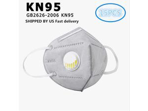 15PCS 6-Layer N95 KN95 Face Mask Prevent the Spread of Saliva in th Air Anti-Dust / Anti-Fog Mouth Respirator Windproof PM 2.5
