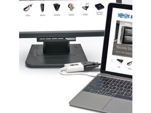 Tripp Lite USB to Dvi DisplayPort Alternate Mode, Dual/Multi-Monitor External Video Graphics Card Adapter, USB-C 3.1 Gen 1 (U444-06N-DVI-AM), White