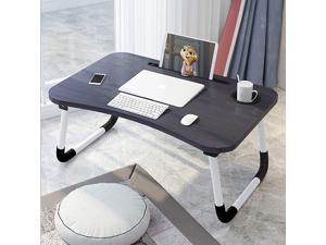 VASLON Foldable Laptop Table,Laptop Desk, Portable Laptop Bed Tray Table Notebook Stand Reading Holder with Foldable Legs for Eating Breakfast, Reading Book, Watching Movie on Bed/Couch/Sofa