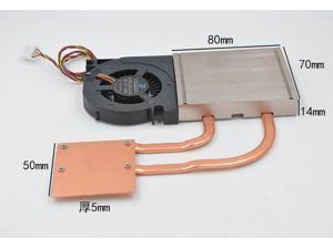 1018-01 with fan Heat radiator AIO Thermal Module 1U ultra-thin 1150 1155 radiator 8017 fan Cooling Module for H61,B81,H87