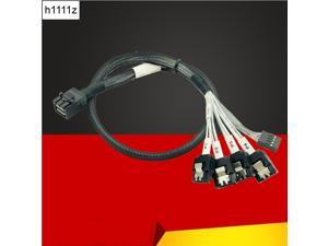 Internal HD Mini SAS Cable Reverse Cord Motherboard 4x SATA to SFF-8643 Backplane Cable for Server Reverse Cable Fan Out Cables