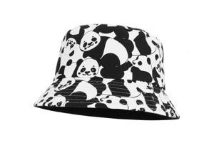 GEMVIE Unisex Panda Print Sun Hat Fisherman Hat for Packable UV Protection Outdoor Hiking Fishing Hunting Travel Bucket Beach Cap