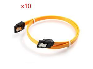 10pcs/lot 40cm Serial SATA 3 RAID Data HDD Hard Drive Disk Signal Cables Yellow Red Straight High Speed SATA 2 Data Cable