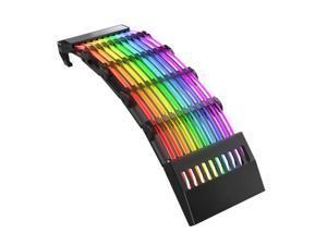 2021 24 Pin RGB Light Extension Cable Rainbow Streamer PSU Line 5V 3-Pin ARGB Sync Power Cord