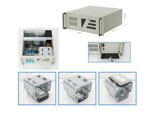 4U industrial control chassis / 3 3.5-inch hard disk positions (compatible with 2.5-inch HDD) / ATX power supply position / 12 × 9.6 inch and below size industrial motherboard / Empty case
