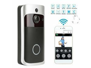WIFI Video Doorbell, Wireless Smart Doorbell 720P HD Security Camera Two-Way Talk and Video, Night Vision, PIR Motion Detection and App Control for IOS and Android