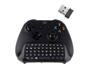 Xbox One Controller Keyboard, Megadream Wireless Mini Gaming Online Message Chat Keypad Chatpad for Microsoft Xbox One, Xbox One Slim Controller - Black