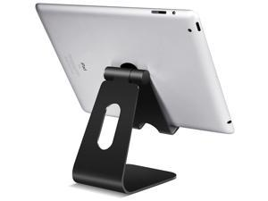 Tablet Stand Adjustable, Lamicall Tablet Stand : Desktop Stand Holder Dock Compatible with Tablet Such as iPad Pro 9.7, 10.5,12.9 Air Mini 4 3 2, Kindle, Nexus, Tab, E-Reader (4-13''), Black